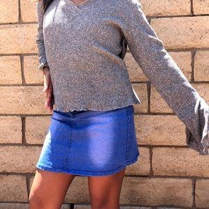 grey loose fit long sleeve